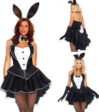 Sexy Adult Bunny Rabbit Ladies Fancy Dress Party Bar Halloween Costume Size M/XL