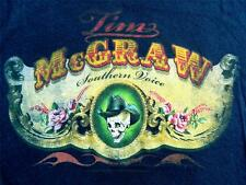 """NEW! Tim McGraw """"Gilded Roses"""" Country Rock Band Licensed Juniors T-Shirt"""