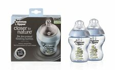 NEW TOMMEE TIPPEE CLOSER TO NATURE EASIVENT 260ML BOTTLES PINK/BLUE X 2 BPA