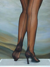 ELEGANTI FULLY FASHIONED STOCKINGS POINT HEEL VARIOUS COLOURS & SIZES IMPERFECTS