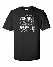 I Like You But if ZOMBIES CHASE US I'm TRIPPING YOU Runners Men's Tee Shirt 292W