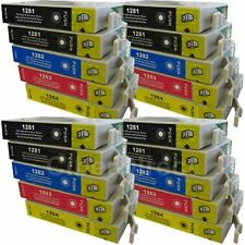 20 Generic Replacements for Epson T1285 Printer Ink Cartridges. UK VAT Invoice.