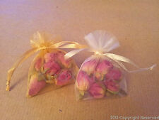 Dried Rose Buds in Small Flower Bags- wedding or table confetti, crafts, gifts