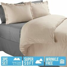 DUVET COVER AND SHAMS 1800 Series 3 Piece Duvet Set - King / Queen / Full / Twin