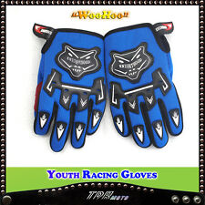 BLUE YOUTH MOTORCYCLE MOTOCROSS MOTORBIKE RACING GLOVES QUAD DIRT TRAIL BIKE KID