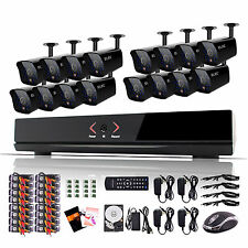ELEC® 16 Channel HDMI Security DVR Dome 8 Out/8 In IR Home Camera System 1TB 2TB
