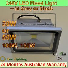 30, 50W, 100W, 150W 240V LED Waterproof Outdoor Flood Light - Warm or Cool White