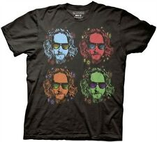 The Big Lebowski Officially Licensed Four Lebowski Faces Adult T-shirt S-2XL