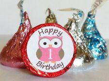 108 ~ Happy Birthday With Number Candy Wrapper Label Favor Stickers For Hershey