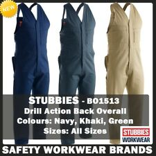 Stubbies Cotton Drill Action Back Overalls Industrial Workwear Sleeveless BO1513