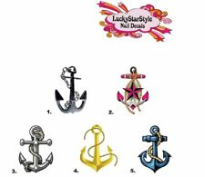Waterslide Nail Decals Set of 20 - Anchor - you choose