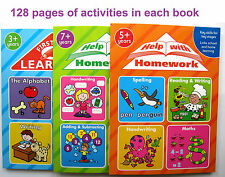 Children learning books 3 4 5 6 7 8 years old writing reading ABC spelling maths