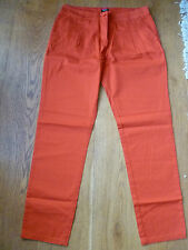 LA REDOUTE 100% COTTON RED PLEAT FRONT SUMMER CHINOS TROUSERS RED 10 12 NEW