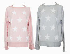 NEW WILDFOX COUTURE STARSHINE VINTAGE DESTROYED PULLOVER SWEATER TOP WHITE STAR