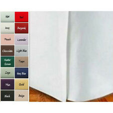 "Sale 1000TC 1PC Solid Split Corner Tailored Bed Skirt 100%Cotton 20""Drop Length"