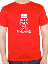 KEEP CALM AND GO TO FINLAND - Finnish / Nordic / Novelty Themed Mens T-Shirt