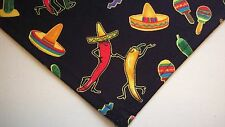 Dog Bandana/Scarf Hot Peppers Cinco de Mayo Custom Made by Linda  xS S M L