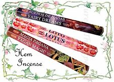 HEM INCENSE STICKS~Hexagonal Pack 20 Sticks~Wicca~Fairy Dreams~Lotus~Pagan Magic