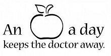 "An Apple a Day Keeps the Doctor Away Vinyl Decal / Sticker 16""x8"" [Home 35]"