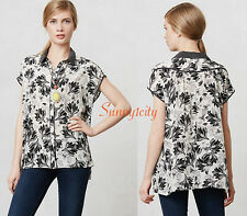 NEW Anthropologie Field Day Blouse, 100% Silk Sz XS or L, 5 star reviews! $118
