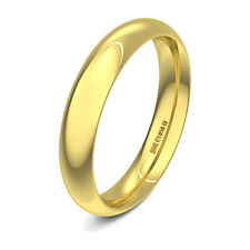 Brand New 18ct Yellow Gold Court Shaped Heavy Plain Wedding Ring Band