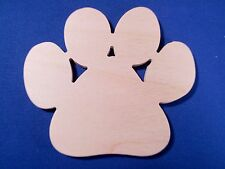 Paw Print Wooden Craft Shape Sizes & Qtys Available Dog Foot Animal