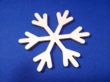 Snowflake Wooden Craft Shape Various Sizes & Qtys Christmas Snow Xmas Winter