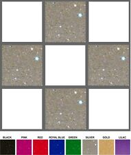 6 INCH GLITTER VINYL TILE STICKERS - LOTS OF COLOURS - BULK PACKS