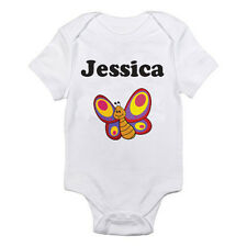 PERSONALISED NAMED BUTTERFLY - Insect / Boy / Girl / Fun Themed Baby Grow / Suit