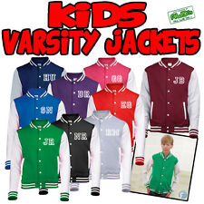 KIDS Personalised American Varsity Letterman College Jacket Baseball present