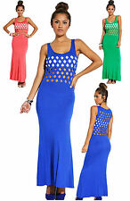 Sexy Ladies Clubbing Maxi Dress Evening Party New Ladies Blouse Size 6 8 10 12