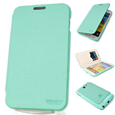 SAMSUNG Galaxy Note Premium Leather Case Flip Cover Card Wallet MINT Skin Pouch