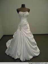 New white/ivory wedding dress Gown Party Gown Stock Size:2 4 6 8 10 12 14 16 18