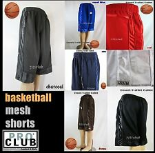 NWT PROCLUB Mens HEAVYWEIGHT ATHLETIC SPORTS MESH POCKET BASKETBALL SHORTS S-7XL