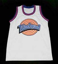 ROADRUNNER TUNE SQUAD SPACE JAM MOVIE JERSEY WHITE NEW ANY SIZE XS -  5XL