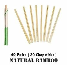 Traditional Chinese Bamboo Wooden Chopsticks Hashi 40 Pairs Chop Stick Wrapped