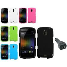 Hard Phone Case Cover For Samsung Galaxy Nexus i515 + USB Car Charger Adapter