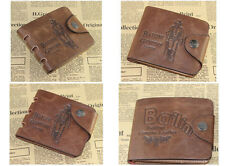 men Bifold Leather Wallet Pockets Card Clutch Money Clip Card Holder Purse brown