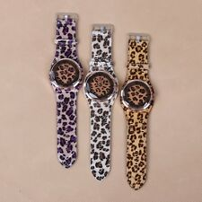 Hot Selling Fashion Leopard Analog Display Watches Unisex Quartz Wristwatch