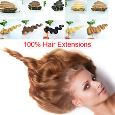 """Remy Bodywave 20"""" 6Pcs 100% Real Human Hair Clip in Hair Extensions,30g,5 Colors"""