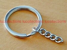 """Key Ring with Chain Key Rings 30mm 1 1/8"""" Key Chains Keychain 25,50,100,200 H119"""