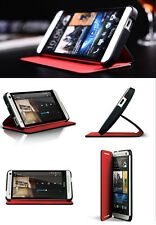 GENUINE Stand Full Protection Flip Leather Case Cover Double Dip For HTC ONE M7