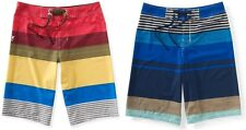 Aeropostale Mens Striped Board Shorts Swimming Trunks Suit Beach Surf Swim NWT