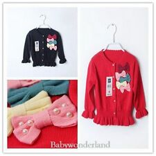 NWT Baby Girls GAP Toddlers Flowers Cardigan Cotton Jumper Sweater Size 1,2,3,4