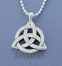 """Mens Pendant Celtic knot Pendant Chain ball Lobster Clasp Necklace 18"""" 20"""" B15"""