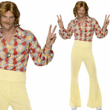 Mens Hippy Fancy Dress Costume 1960s / 60s Hippie Man Outfit Swinging Sixties