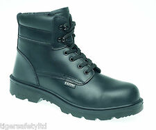 Capps LH401 S2 Black Mens Composite Toe Cap Work Boots Safety Boots CLEARANCE