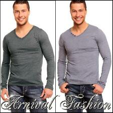 NEW MENS LONG SLEEVE SHIRTS for MEN CASUAL WEAR CLOTHING MEN'S V-NECK shirt TOP