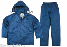 Delta Plus Panoply EN400 Navy Blue PVC Waterproof Rainsuit Trousers Jacket Coat