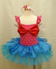 Christmas Little Mermaid Girls Party Costume Ballet Tutu Dress Up Outfit 2T - 8